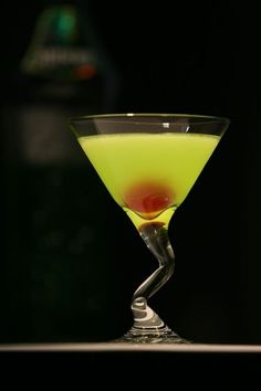 Japanese Slipper. 1 oz. Cointreau, 1 oz. Midori, 1 oz. fresh lemon juice. Shake. Pour into cocktail glass. Garnish with a maraschino cherry.  The Japanese Slipper Cocktail has light sour-sweet fruit taste. It is good cocktail for summer or tropic beach. If you replaced cointreau with vodka you may obtain more powerfull drink.