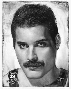 Freddie Mercury - 12Caras by artcova.deviantart.com on @deviantART Drawing Stars, Drawing Pin, Freddie Mercury Barcelona, Oil Portrait, Pencil Portrait, Portrait Sketches, Color Pencil Art, Queen Freddie Mercury, Inspirational Artwork