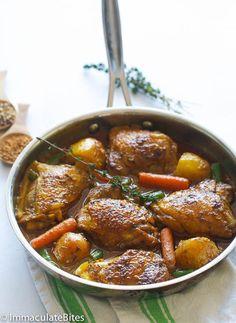 mijoteuse curry poulet jamaïcain
