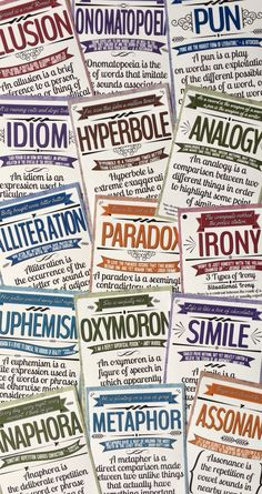 Language Posters Looking for engaging figurative language posters to brighten your classroom?Looking for engaging figurative language posters to brighten your classroom? Ela Classroom, Middle School Classroom, Classroom Organization, Classroom Ideas, Classroom Language, Future Classroom, Middle School Ela, Middle School English, English Classroom Displays
