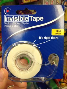 I think these people need to look up the definition of invisible.