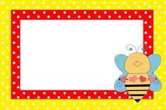 Imprimibles de abejitas 2. | Ideas y material gratis para fiestas y celebraciones Oh My Fiesta! Dolphin Clipart, English Festivals, Bee Party, Frame Clipart, Borders And Frames, Kindergarten Art, Printing Labels, Party Printables, Diy Cards