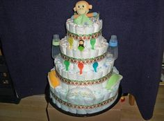 +ReadyMadeDiaperCakes | JUNGLEMONKEY ULTIMATE BABY SHOWER DIAPER by readymadediapercakes