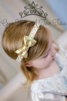 Check out this item in my Etsy shop https://www.etsy.com/listing/265638069/ivory-gold-glitter-bow-headband-polka