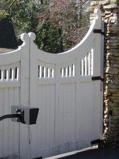 driveway gate example photographed around Atlanta