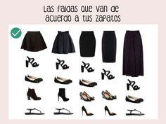 faldas que van de acuerdo a tus zapatos