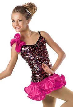 Peplum Sequin Leotard -Weissman Costumes | Dance Costumes ...