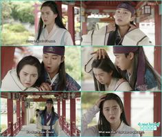 Sun Woo after getting the weird class from so hoo applied it on a ro but a ro though he did acupuncture on her head - Hwarang - Episode 7 Review