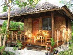Apartment house facade design 15 Ideas for 2019 Bamboo House Design, Tropical House Design, Simple House Design, Tiny House Design, Tropical Houses, Filipino House, Hut House, Philippine Houses, Bamboo Building