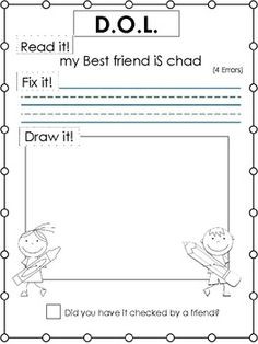 Printables Daily Oral Language Worksheets activities language and student on pinterest d o l daily oral writing practice read it fix