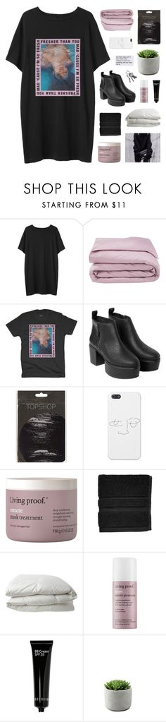 """i know"" by flying-baby-unicorn ❤ liked on Polyvore featuring Organic by John Patrick, Frette, Monki, Living Proof, Waterworks, Nimbus, Bobbi Brown Cosmetics and 2017BTSFESTA"