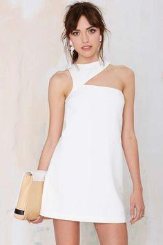Helter Skelter Asymmetrical Cutout Dress