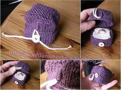 boîte à bague - ring box - tricot - tuto