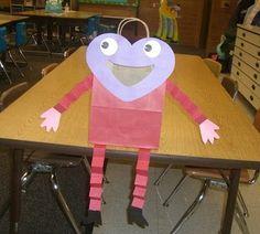 the teacher wife: classroom valentine sacks
