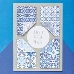 Moroccan tile card