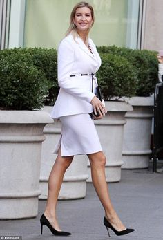Maternity chic: Ivanka showed off her stunning style when she stepped out in New York City last month