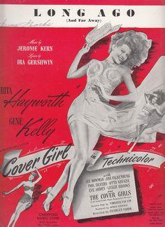 Long Ago and Far Away 1944 Sheet Music from Movie Cover Girl Rita Heyworth Ira Gershwin