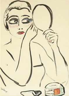 Kees van Dongen (1877-1968, Dutch), Le modèle, Watercolor, brush, and ink on paper laid on board, 59.1 x 42.7 cm.