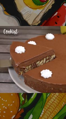 Delicious Cake Recipes, Easy Cake Recipes, Yummy Cakes, Sweet Recipes, Dessert Recipes, No Bake Chocolate Cake, Chocolate Treats, Eggless Desserts, Cookie Desserts