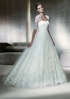 Any Pronovias brides out there? I'm about positive I will be a Pronovias bride. So gorgeous! Pronovias Wedding Dress, Wedding Dress Sizes, Wedding Dress Sleeves, Long Sleeve Wedding, Princess Wedding Dresses, Elegant Wedding Dress, Ivory Wedding, Bridal Dresses, Wedding Gowns