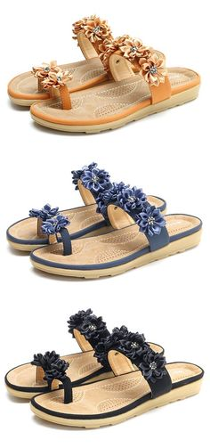 US$22.26 SOCOFY Floral Bohemia Clip Toe Flat Slippers For Women https://twitter.com/ShoesEgminfmn/status/895096695293329409