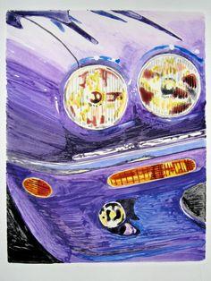 Cat's Eyes Artist: Edward Baranski Water Media on Paper