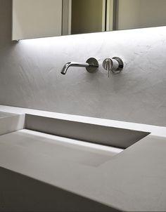 MySlot, rectanglar sink in cristalplant by Antonio Lupi. Admired by…
