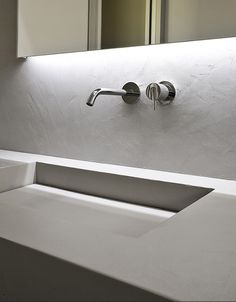 MySlot, rectanglar sink in cristalplant by Antonio Lupi