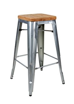 """A Tolix bar stool replica made in steel with a rustic design. Good for homes, restaurants or cafes. Also a version with a metal seat  [share title=""""Share with friends"""" socials=""""facebook, twitter, google, pinterest, bookmark"""" class="""""""" icon_type="""""""" ]"""