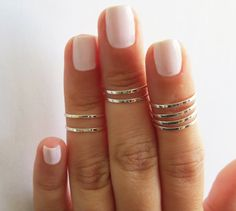 Silver Ring  Stacking rings Knuckle Ring Thin by HLcollection, $25.00
