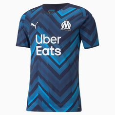 Football Kits, Pumas, Soccer, Shirts, Mens Tops, How To Wear, Products, Marseille, Blue