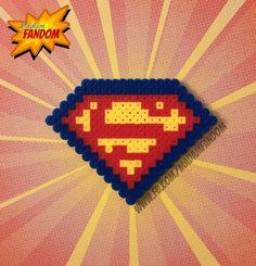 SUPERMAN Logo Magnet, Ornament, or Wall Decor (Perler Beads)