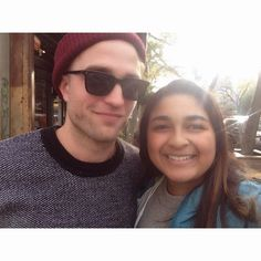 Robsten Dreams: New Fan Pic: Rob with a Happy Fan in NYC - Nov 8, 2014