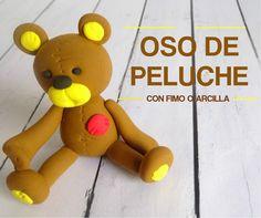 Cómo hacer un oso de peluche con Fimo o arcilla polimérica - http://www.manualidadeson.com/oso-de-peluche-con-fimo.html