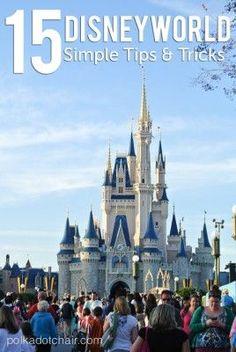 15 Simple Disney World Tips and Tricks on Polka Dot Chair