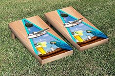 Margarita Beach Themed Cornhole Game Set Hardcourt Triangle Version 2 ** Check out the image by visiting the link.
