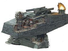 El Artwork de Hans Jenssen para las naves de Star Wars - Inksword