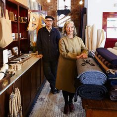 A former warehouse in Rye is home to a 1940s-inspired sewing emporium filled with high-quality fabrics and accoutrements
