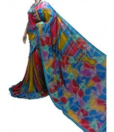 Yellow Multi Handpainted Murshidabad Silk Saree
