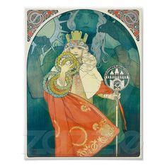 Alphonse Maria Mucha ~ Art Nouveau Poster