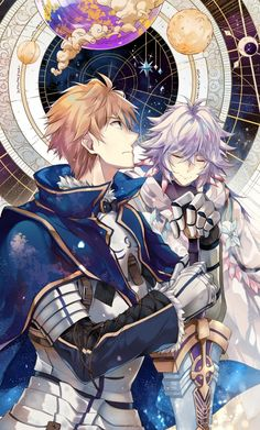 Fate prototype saber and merlin