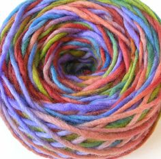 Bulky Yarn Hand Dyed Wool Roving Bulky Yarn  Adobe by FiberFusion, $14.00