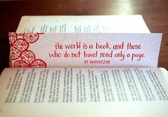 St. Augustine Letterpress Bookmark by littlethingsstudio on Etsy