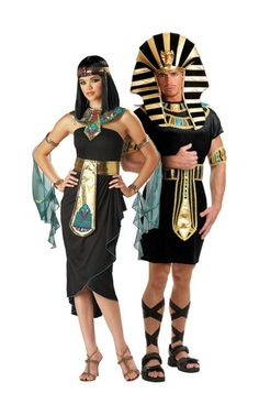 Cleopatra Black and King Tut Couples Costume