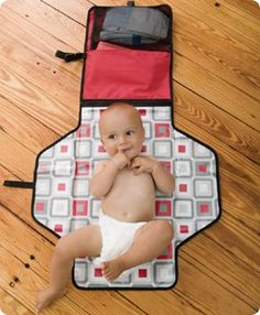 Skip Hop Pronto Change Station in Black Geo or Black, $36 at TJs or Jack & Lola- when I have a baby I want one!