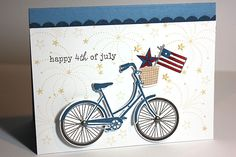 4th of July Bicycle Card