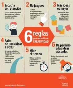 6 reglas para reuniones creativas #infografia #infographic #rrhh