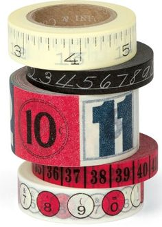 Numbers Decorative Paper Tape