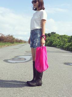どこ😂 #狂わせピンク 雨上がり☀️☀️☀️ 長靴内熱こもりすぎ🔥 Instagram☞kco3