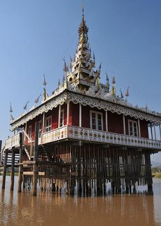 Temple on Stilts, Myanmar (Burma)